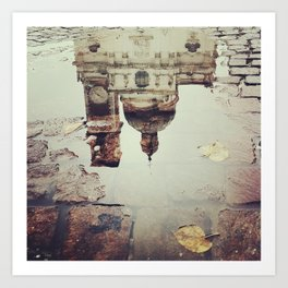 Puddle Reflection Art Print