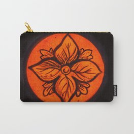 Medeval Stained Glass Flower. Carry-All Pouch