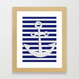 Hipster Sailing Framed Art Print