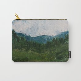 A Forest Under Blue Skies Impasto Painting Carry-All Pouch