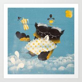 Corujitear (to owl) - Rodrigo Troitiño Art Print