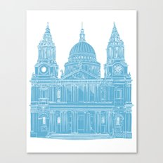 St Paul's Cathedral - London architectural print Canvas Print