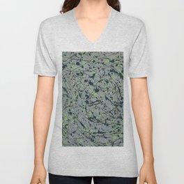 Modern Splatter Paint Art Unisex V-Neck