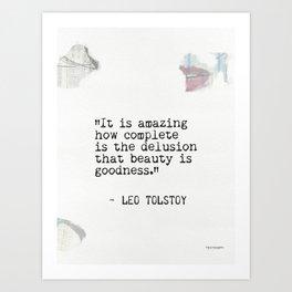 Leo Tolstoy quote 6 Art Print