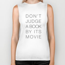 Don't Judge a Book By its Movie Biker Tank