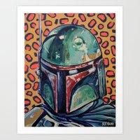 boba fett Art Prints featuring BOBA FETT by Jamil Zakaria Keyani