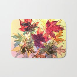 fallen leaves III Bath Mat
