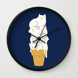 Meowlting Wall Clock