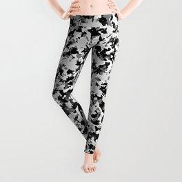 Arctic White Grey Black Camo Camouflage Pattern Leggings