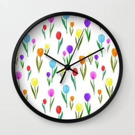 candy tulip Wall Clock