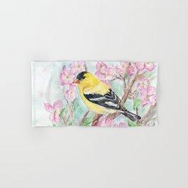 Goldfinch and Dogwood Flowers Hand & Bath Towel