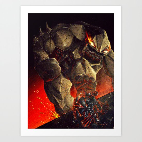 Earth Elemental battle Art Print