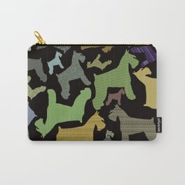 schnauzer pattern *black* Carry-All Pouch