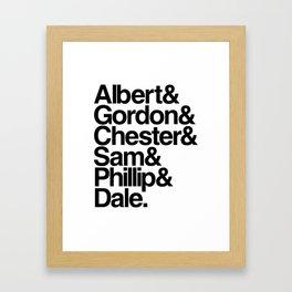 FBI Agents (Twin Peaks: Fire Walk with Me) Framed Art Print
