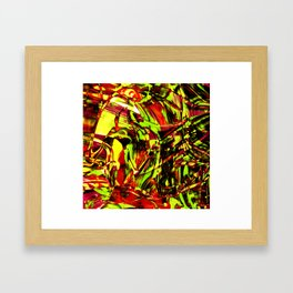 Fluid Painting 2 (Yellow Version) Framed Art Print