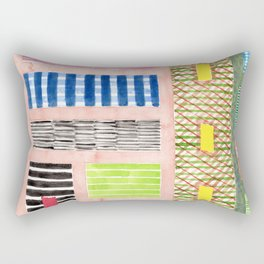 Friendly Pattern Mix On Pink Rectangular Pillow