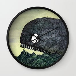 Monstrous Whale Wall Clock