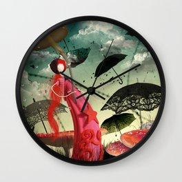 Les parapluies Wall Clock