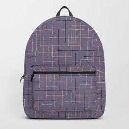 Criss Cross Lavender Maze Vector Pattern Backpack