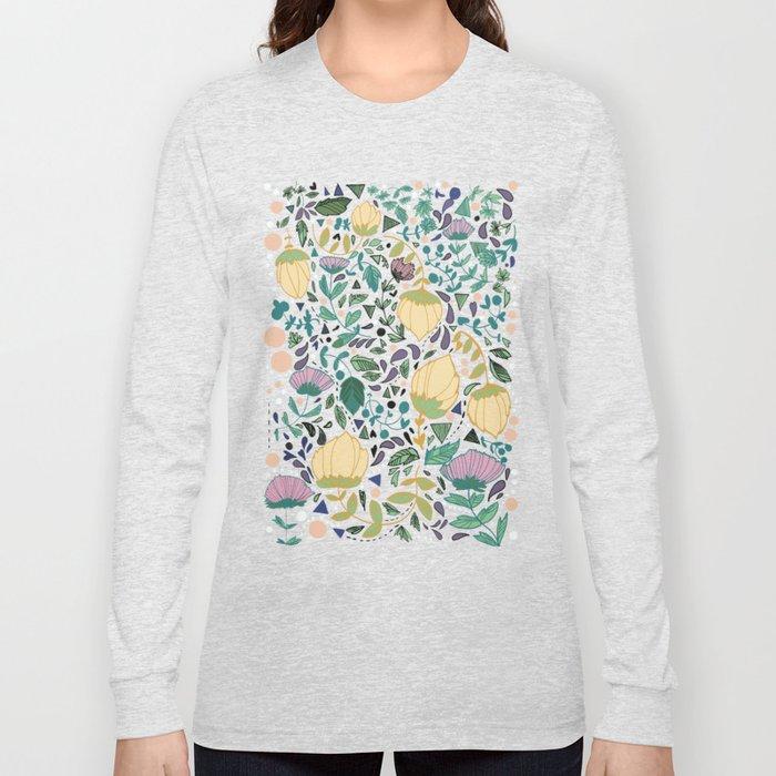 Flower Pattern Long Sleeve T-shirt