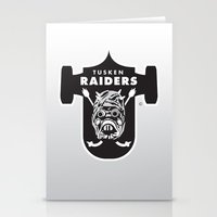 nfl Stationery Cards featuring Tusken Raiders - NFL by Steven Klock