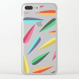 Feathers II Cascading Colors Clear iPhone Case