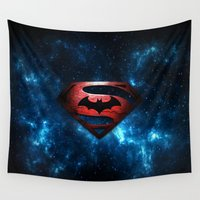 superman Wall Tapestries featuring SUPERMAN - SUPERMAN by albert Junior