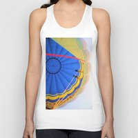 hot air balloon Tank Tops featuring BALLOON LOVE - Hot Air Balloon by Brian Raggatt