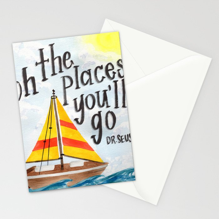 Oh the Places You'll Go - Dr. Seuss Stationery Cards