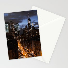 NYC at night Stationery Cards