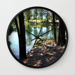 Cold, Clear Waters of Remote Forebay Lake Wall Clock