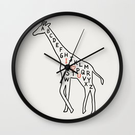 I love you as high as I can reach Wall Clock