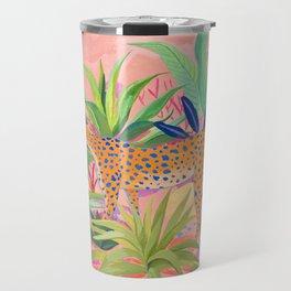 Leopard in Succulent Garden Travel Mug