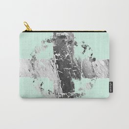 THE CROSS/black and white Carry-All Pouch