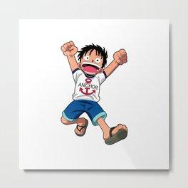 Luffy Kid Metal Print
