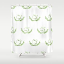Family of Animals Shower Curtain