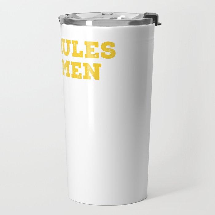 BBQ Rules For Men Travel Mug