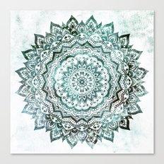 Emerald Jewel Mandala Canvas Print