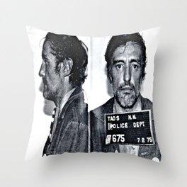 Hopper, Dennis Mugshot - (1975) Taos, N.M. Throw Pillow