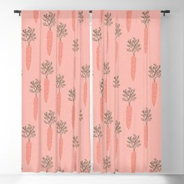 Pinky Carrots Blackout Curtain
