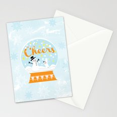 Snow globe friends Stationery Cards