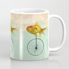 unicycle goldfish Mug