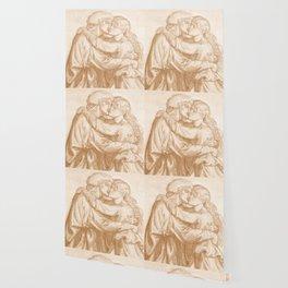 "Dante Gabriel Rossetti ""Study of two Lovers embracing"" Wallpaper"