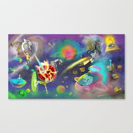 willful suspension of disbelief Canvas Print