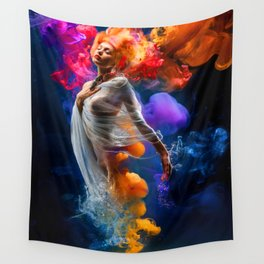 Pritty Girl Wall Tapestry