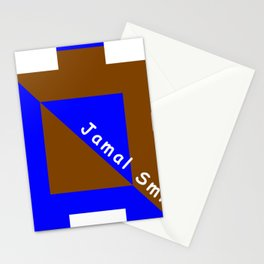 Ninja Square Blue and Brown Stationery Cards