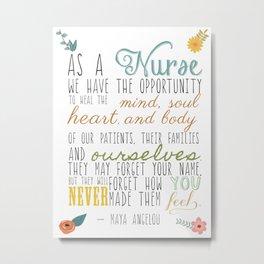 As a Nurse... Metal Print