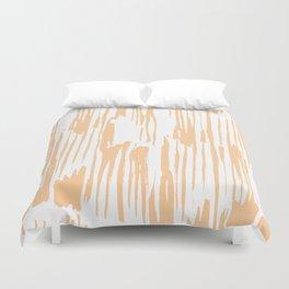 Modern Coral Stripes IV Duvet Cover