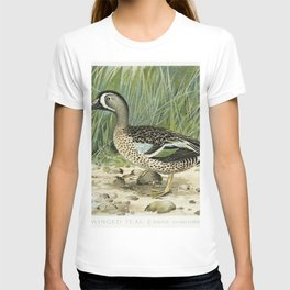 Blue-Winged Teal (Anas Discors Linn) illustrated by JL Ridgway (1859-1947) and WB Gillette (1864-193 T-shirt