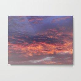 Sunset - Volcano Sky Metal Print